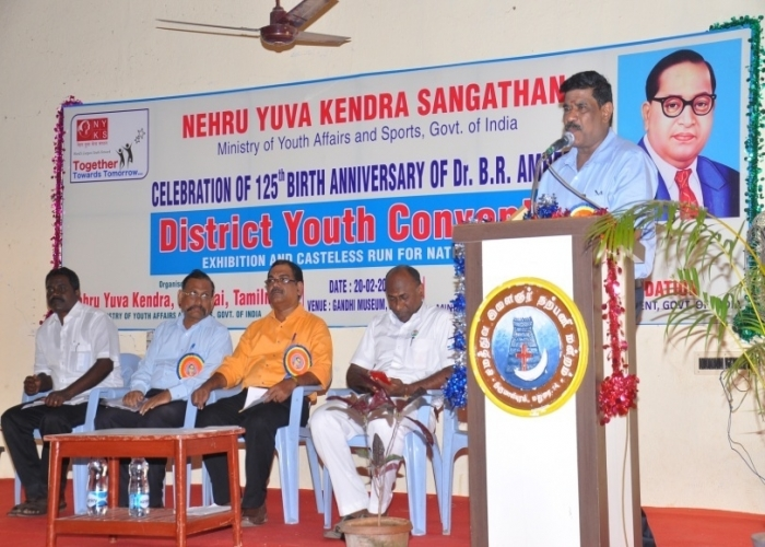Hon Vice Chancellor Krishna univeristy  Sri S. Ramakrishna rao delivering key note address (Andhra Pradesh)