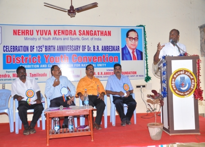 Hon'ble Member of Parliament Sri Konakalla NarayanaRao addressing the participants (Andhra Pradesh)