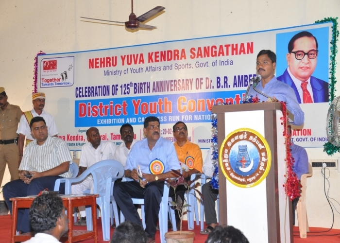 A view of the participants of dist convention (Andhra Pradesh)