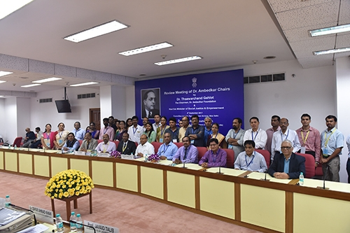 Review Meeting of Dr. Ambedkar Chairs, held on 4th Sep. 2017-28
